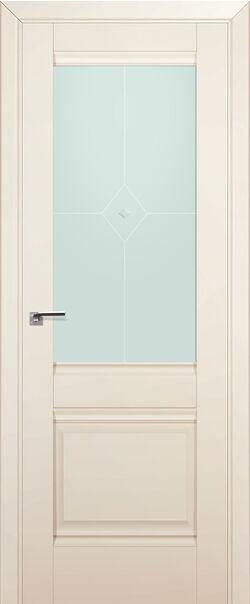 Межкомнатная дверь экошпон 2U Магнолия сатинат