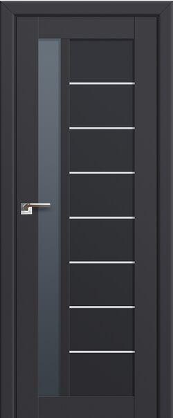 Межкомнатная дверь экошпон 37U Антарцит