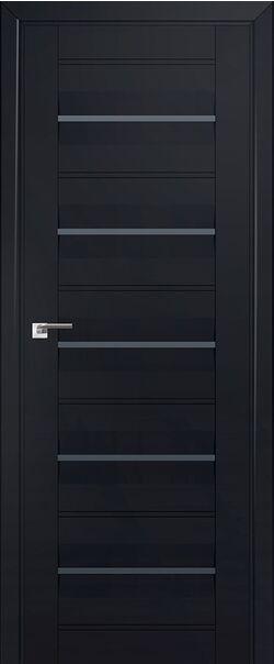 Межкомнатные двери экошпон 48U Черный матовый