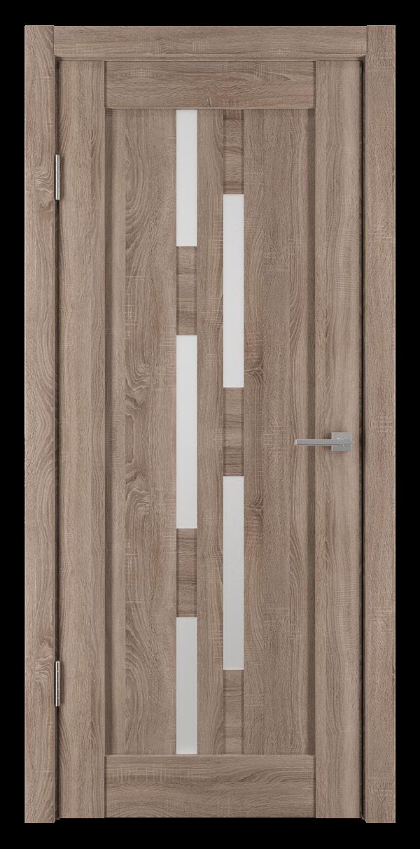 Двери межкомнатные экошпон Элегия-4 Спил седой