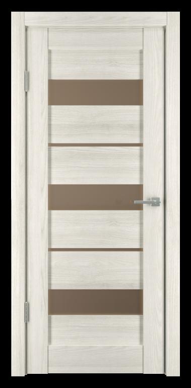 Межкомнатные двери экошпон Горизонталь -4 Дуб снежный исток