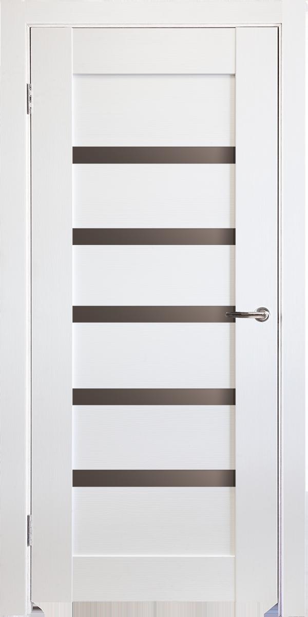 Межкомнатные двери Горизонталь-5 Ясень белый исток