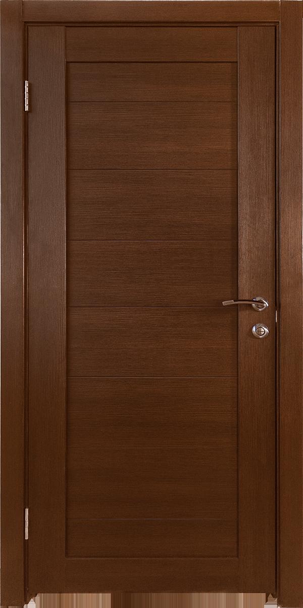 Межкомнатные двери экошпон Горизонталь-8 Каштан Исток