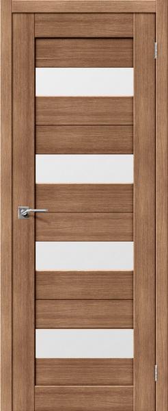 Межкомнатные двери экошпон S23 орех карамель