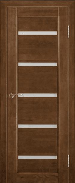 Межкомнатные двери из массива сосны Вега-5 Темный орех