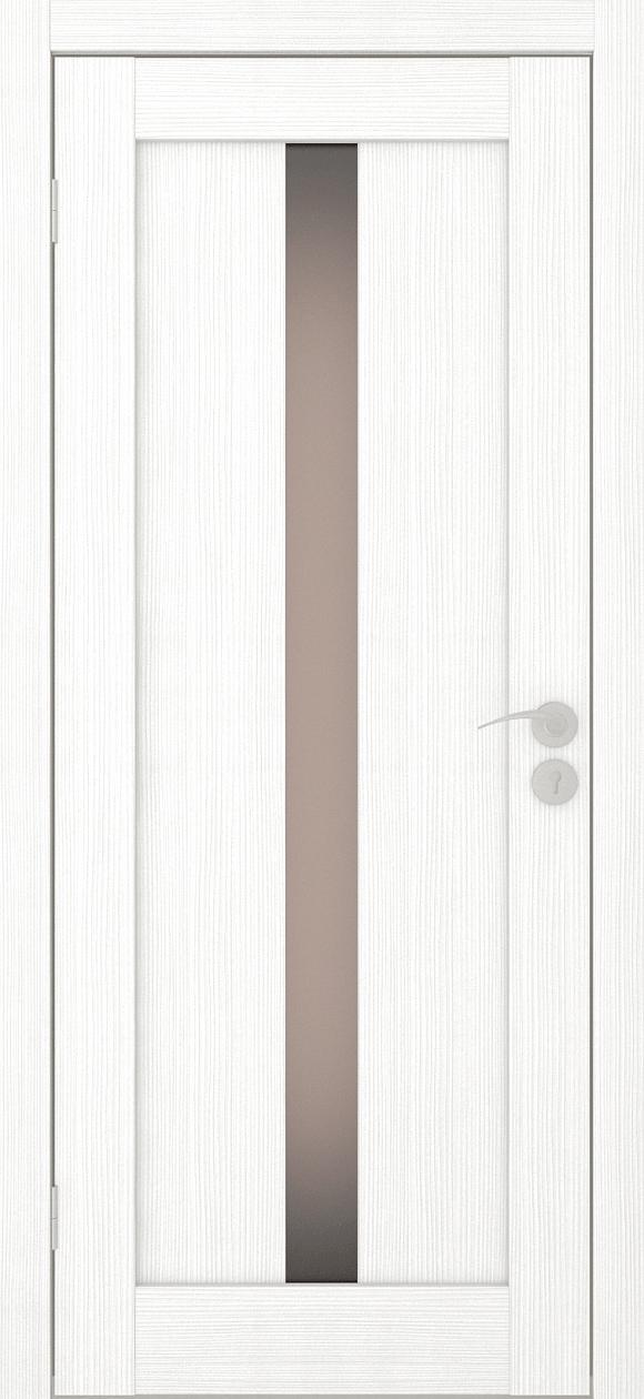 Межкомнатные двери экошпон Вертикаль-2 Ясень белый Исток