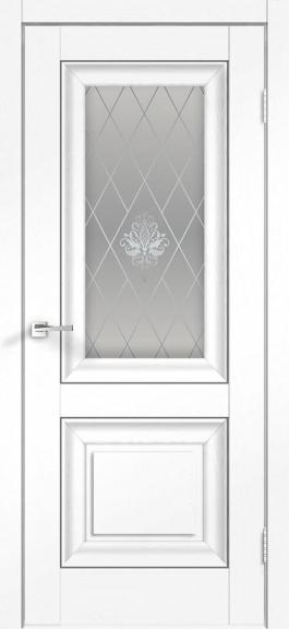 Межкомнатная дверь экошпон Alto 7V Ясень белый