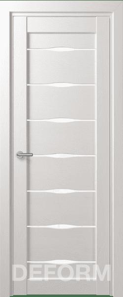 Межкомнатные двери экошпон Deform D3 Дуб шале снежный