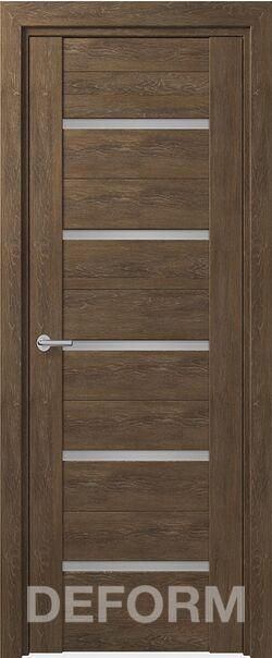 Межкомнатные двери Deform D11 Дуб шале корица