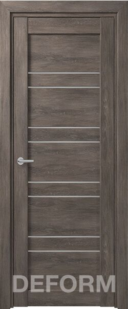 Межкомнатная дверь Deform D15 Дуб шале графит