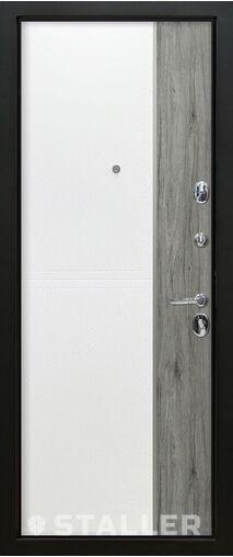 Входные металлические двери Этна белая кожа