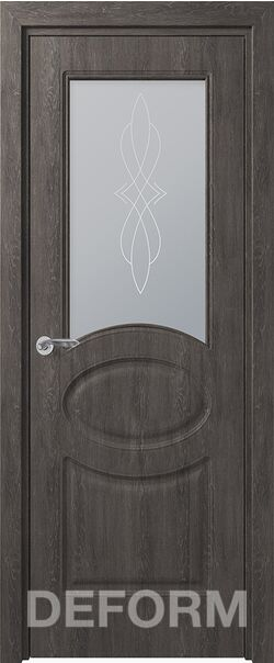 Межкомнатная дверь Прованс ДО Дуб шале графит