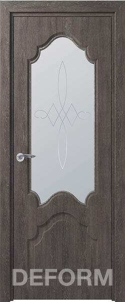 Межкомнатная дверь Тулуза ДО Дуб шале графит