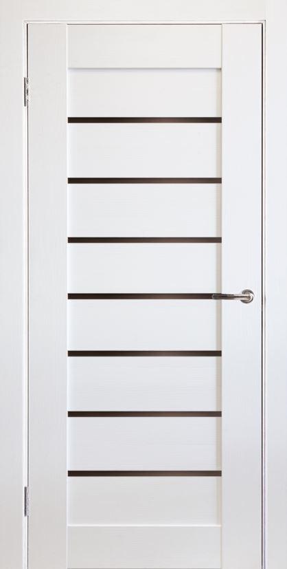 Межкомнатные двери экошпон Горизонталь-6 Софт белый