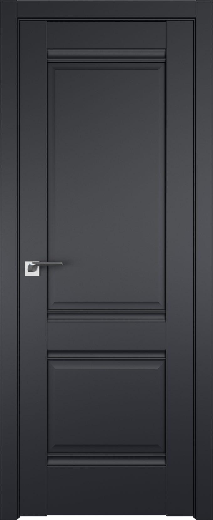 Межкомнатные двери 1U Черный матовый