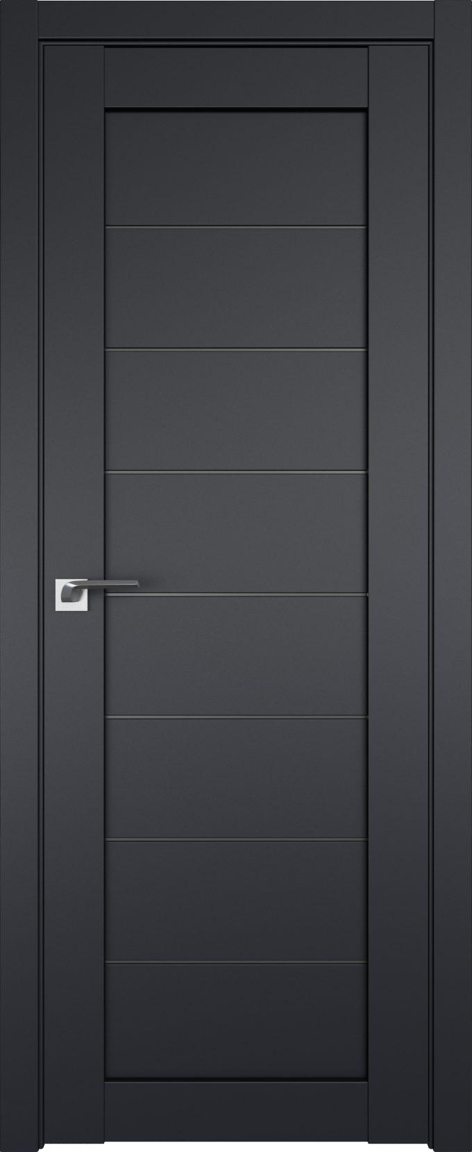 Межкомнатные двери Профильдорс экошпон 71U Черный матовый