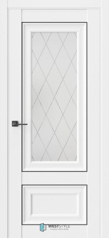 Двери ВестСтайл HR4 стекло 2 белые