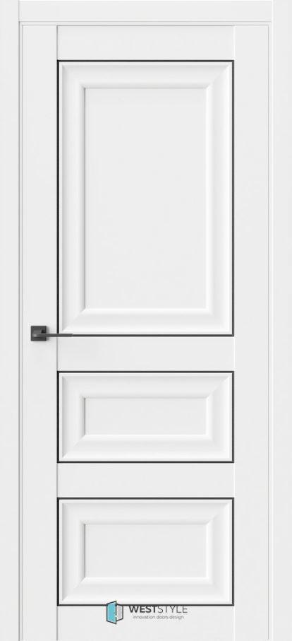 Белые межкомнатные двери ВестСтайл HR5