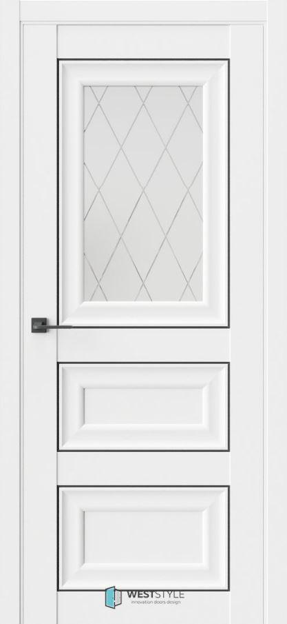 Межкомнатная дверь ВестСтайл HR6 стекло 2