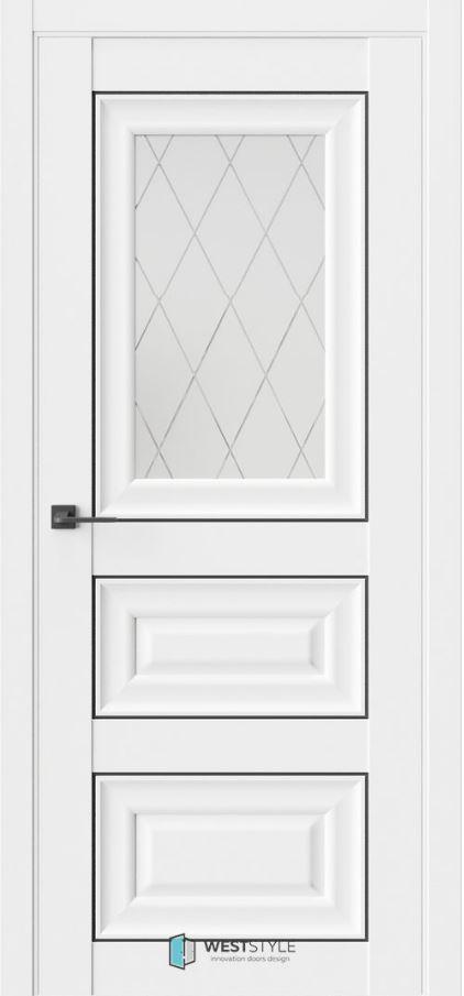 Межкомнатная дверь HR6F стекло 2