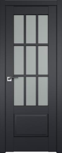 Двери межкомнатные 104U Черный матовый