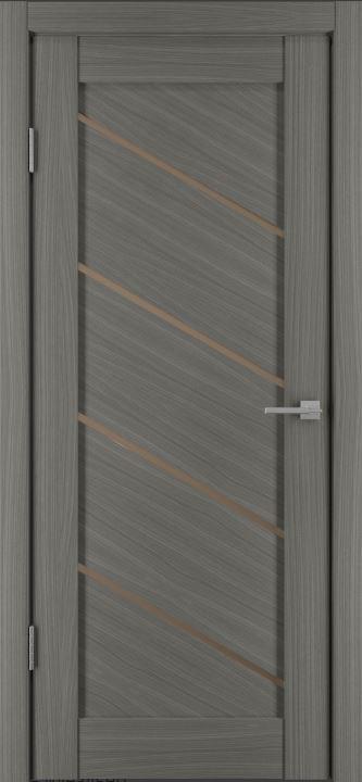 Межкомнатные двери Исток Диагональ-1 Дуб неаполь бронза