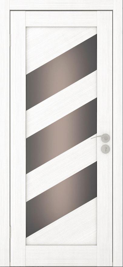 Межкомнатные двери Исток Диагональ-2 Ясень белый бронза