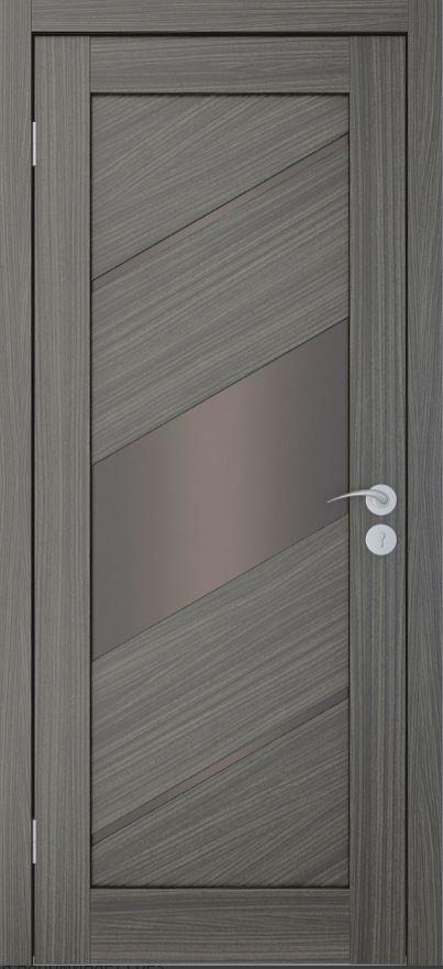 Межкомнатные двери Исток Диагональ-3 Дуб неаполь бронза