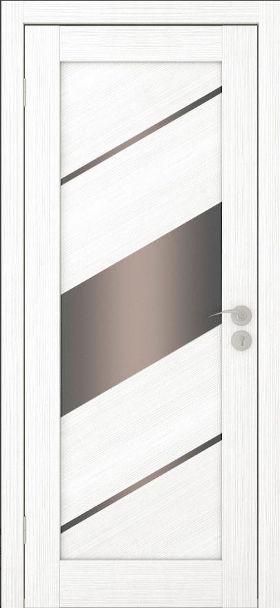 Межкомнатные двери Исток Диагональ-3 Ясень белый бронза