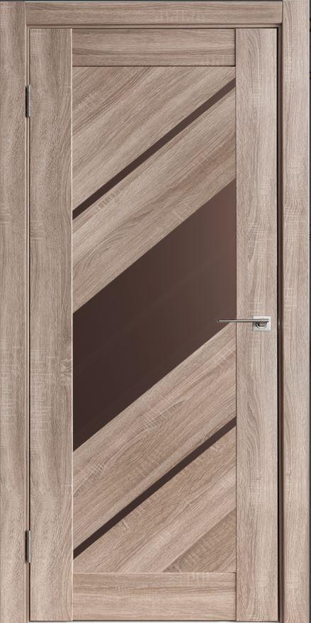 Межкомнатные двери Исток Диагональ-3 Спил седой бронза