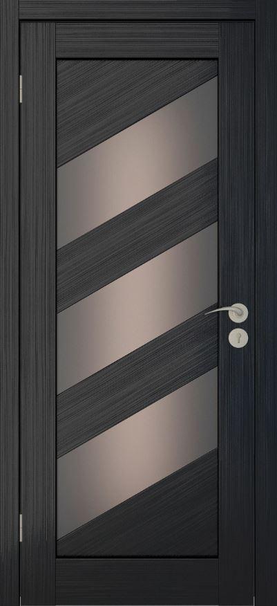 Межкомнатные двери Исток Диагональ-2 Венге мелинга бронза