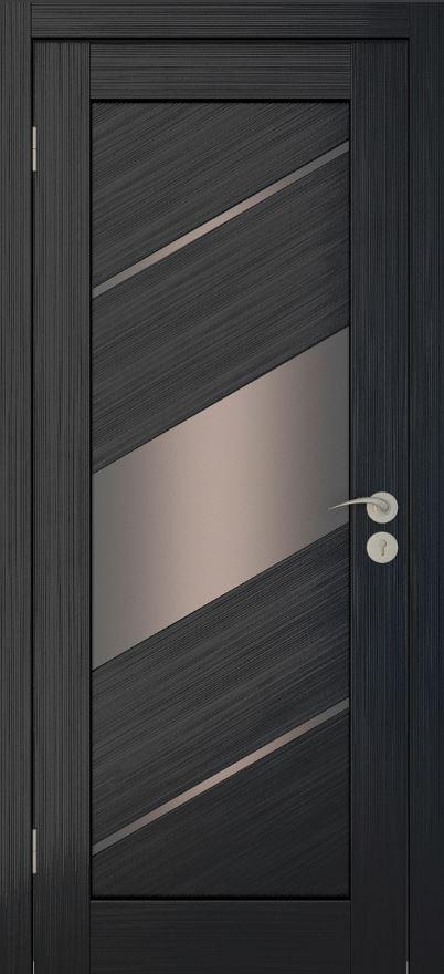 Межкомнатные двери Исток Диагональ-3 Венге мелинга бронза