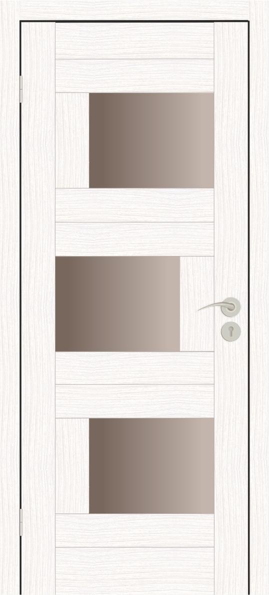 Межкомнатные двери Исток Домино-2 Бьянко бронза