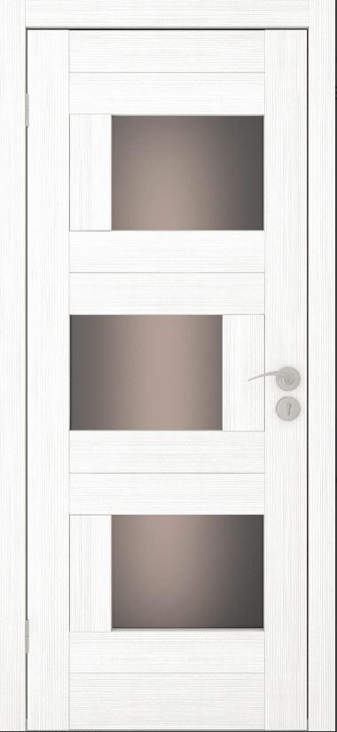 Межкомнатные двери Исток Домино-2 Ясень белый бронза