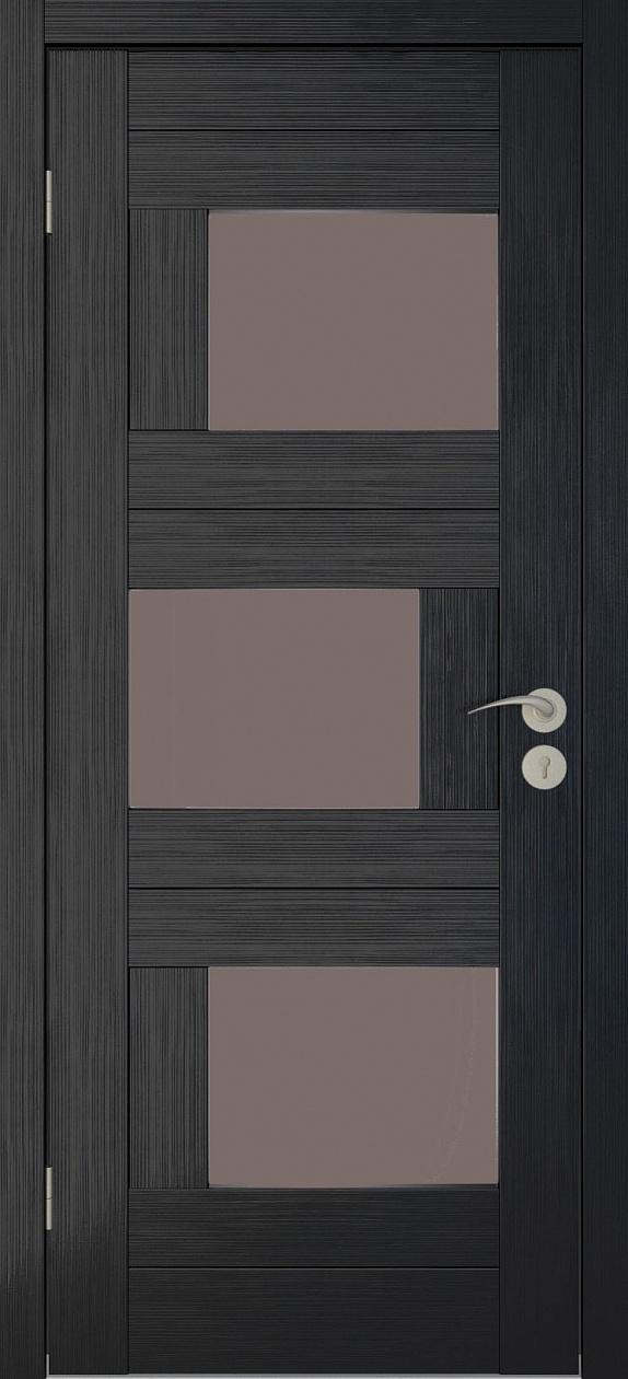 Межкомнатные двери Исток Домино-2 Венге мелинга бронза