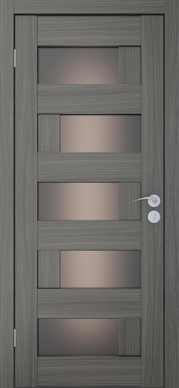 Межкомнатные двери Исток Домино-4 Дуб неаполь бронза