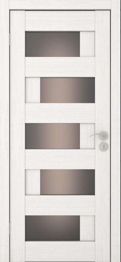 Межкомнатные двери Исток Домино-4 Ясень белый бронза