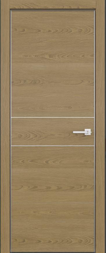 Двери межкомнатные из натурального шпона дуба Fondo -102 Натур с молдингом