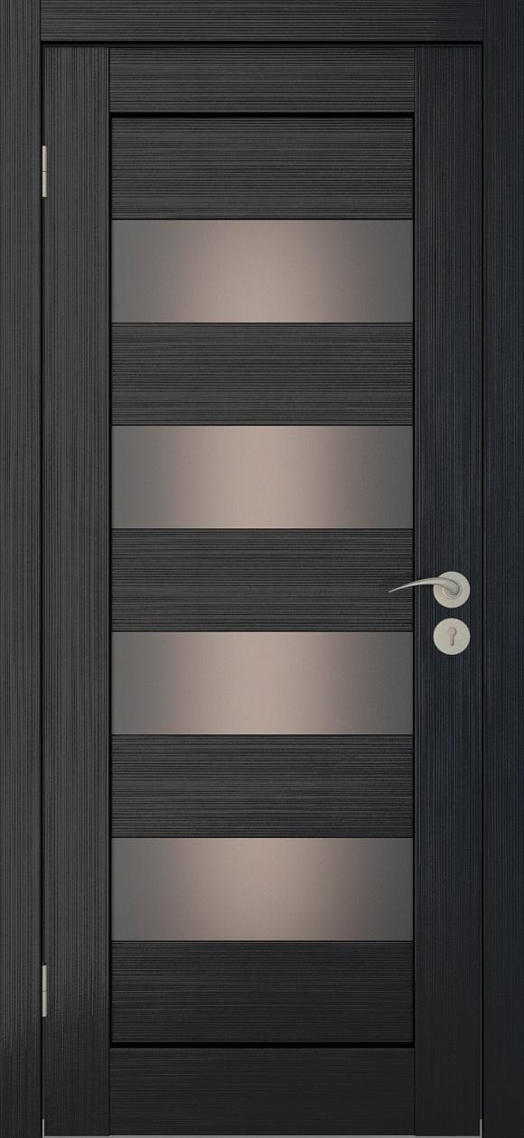 Межкомнатная дверь Исток Горизонталь-2 Венге мелинга