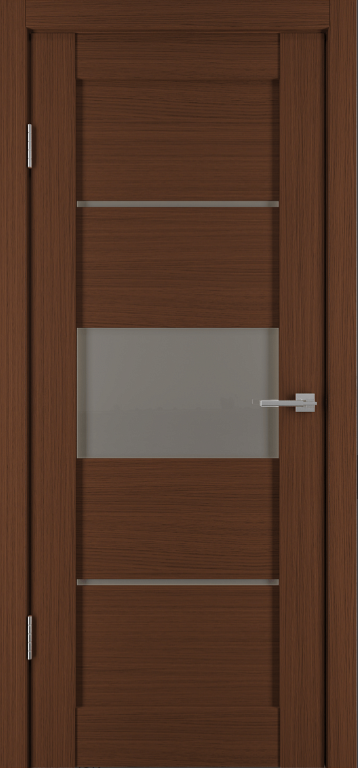 Межкомнатная дверь Исток Горизонталь-3 Каштан мелинга