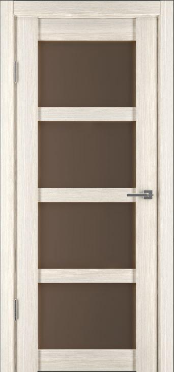 Межкомнатная дверь Исток Горизонталь-12 Капучино стекло бронз
