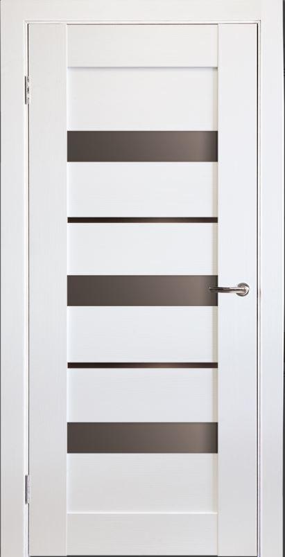 Межкомнатная дверь Исток Горизонталь-4 Ясень белый