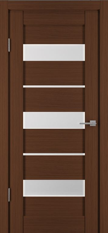 Межкомнатная дверь Исток Горизонталь-4 Каштан мелинга.