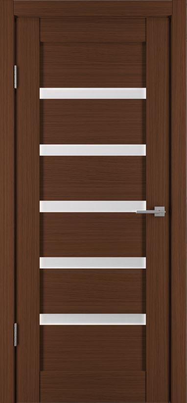 Межкомнатная дверь Исток Горизонталь-5 Каштан мелинга
