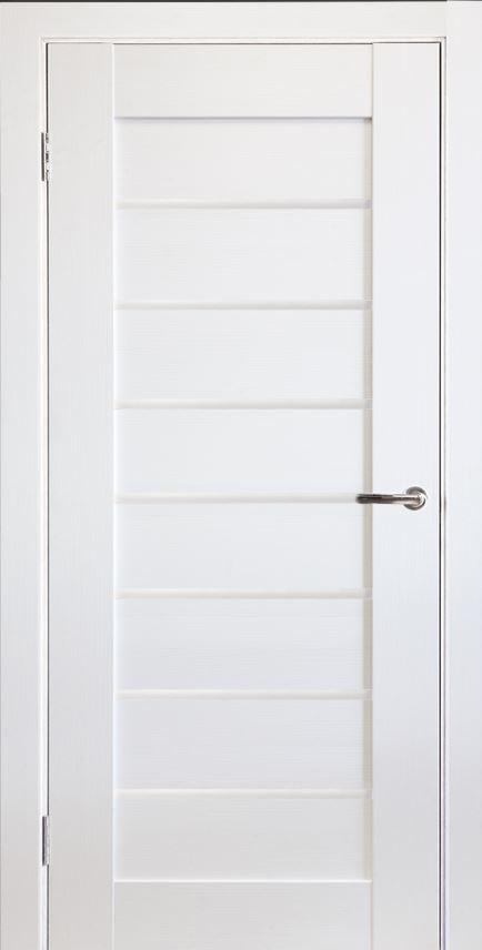 Межкомнатная дверь Исток Горизонталь-6 Ясень белый
