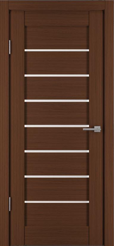 Межкомнатная дверь Исток Горизонталь-6 Каштан мелинга