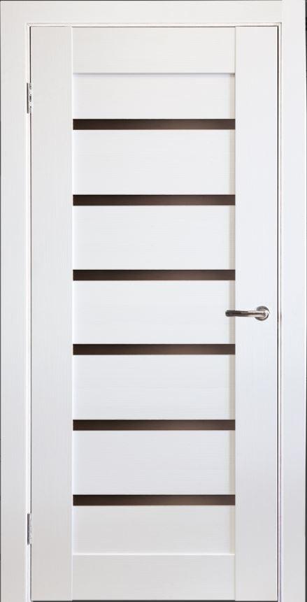 Межкомнатная дверь Исток Горизонталь-9 Ясень белый