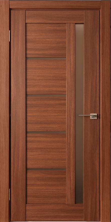 Межкомнатные двери Исток Микс-2 Каштан мелинга бронза