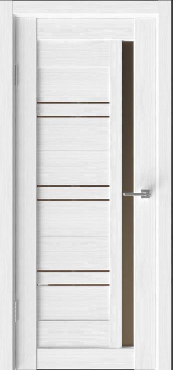 Межкомнатные двери Исток Микс-8 Ясень белый броонза