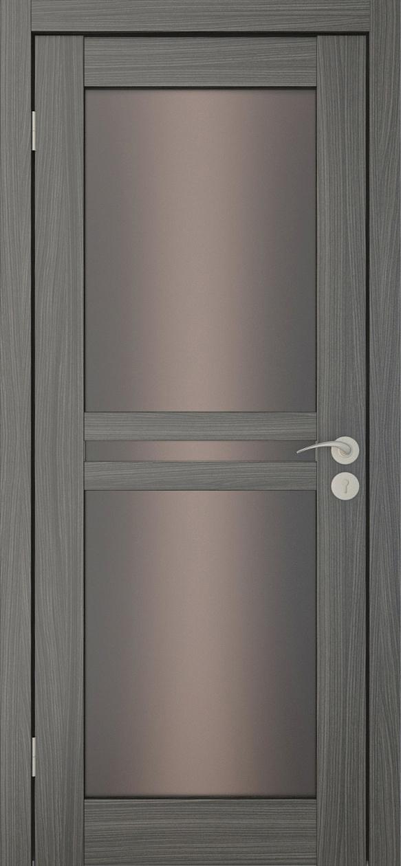 Межкомнатные двери Исток Паола-3 Дуб неаполь бронза